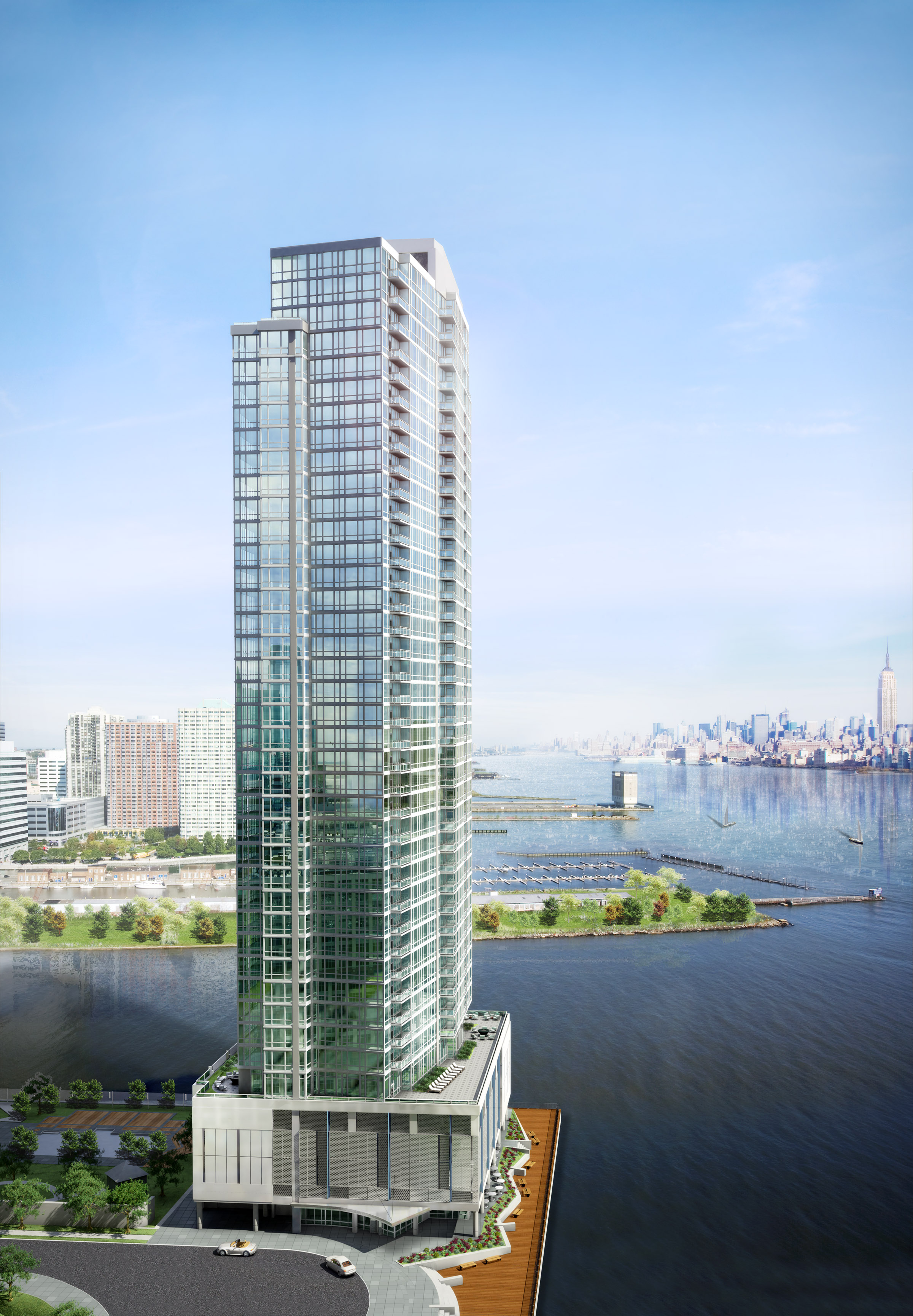 Crystal Point Condominiums in downtown Jersey City, N.J.