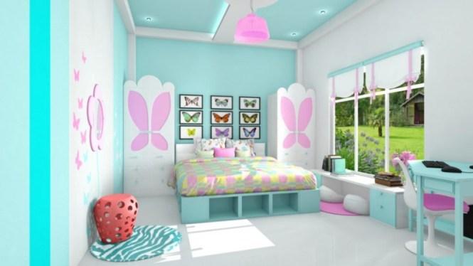 kombinasi warna dekorasi kamar anak