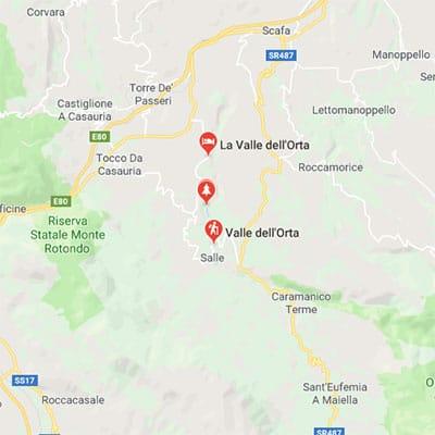 Cartina valle dell'Orta