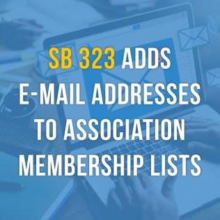 List Of New California Laws 2020.Sb 323 E Mail Nightmare California Legislative Action