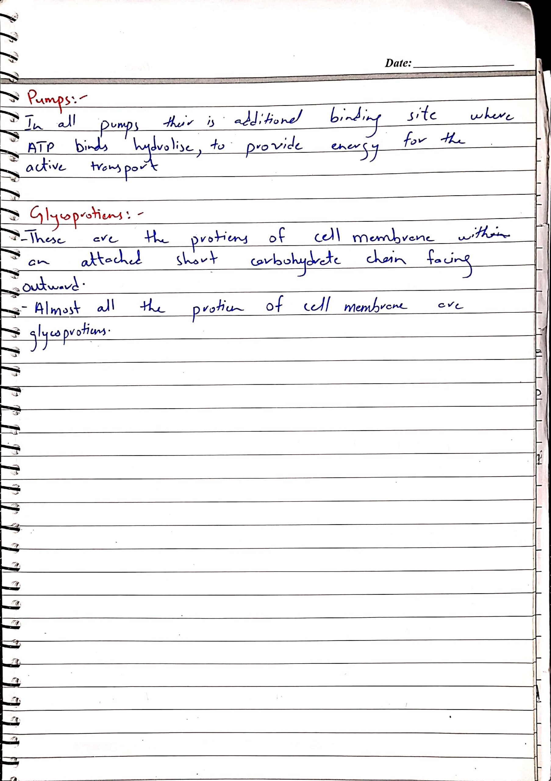 As biology notes by Dr Husnain chap Cell Membrane_7