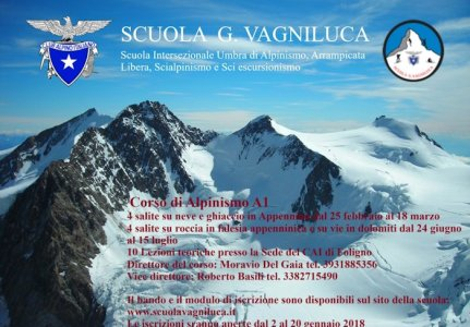 Scuola G. Vagniluca – Corso di alpinismo A1