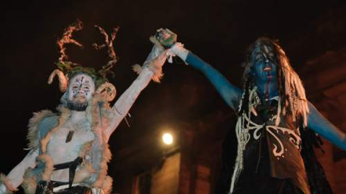 Neo pagan reimagining of the winter court - Edinburgh Samhuinn halloween