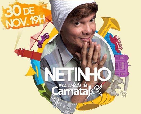 Netinho retorna a Natal em noite especial. Imagem: Divulgação