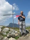 Dante Truffelli sulla vetta del monte Freddone(Alpi Apuane) 28 Maggio 2015