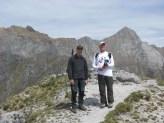 Sulla vetta del monte Forato 19 Aprile 2015. sullo sfondo L'Uomo Morto e il Pizzo delle Saette