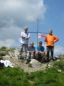 gruppo sulla cima del monte Freddone (Alpi Apuane)