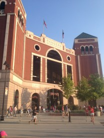 The Home Plate entrance to the ballpark in Arlington.