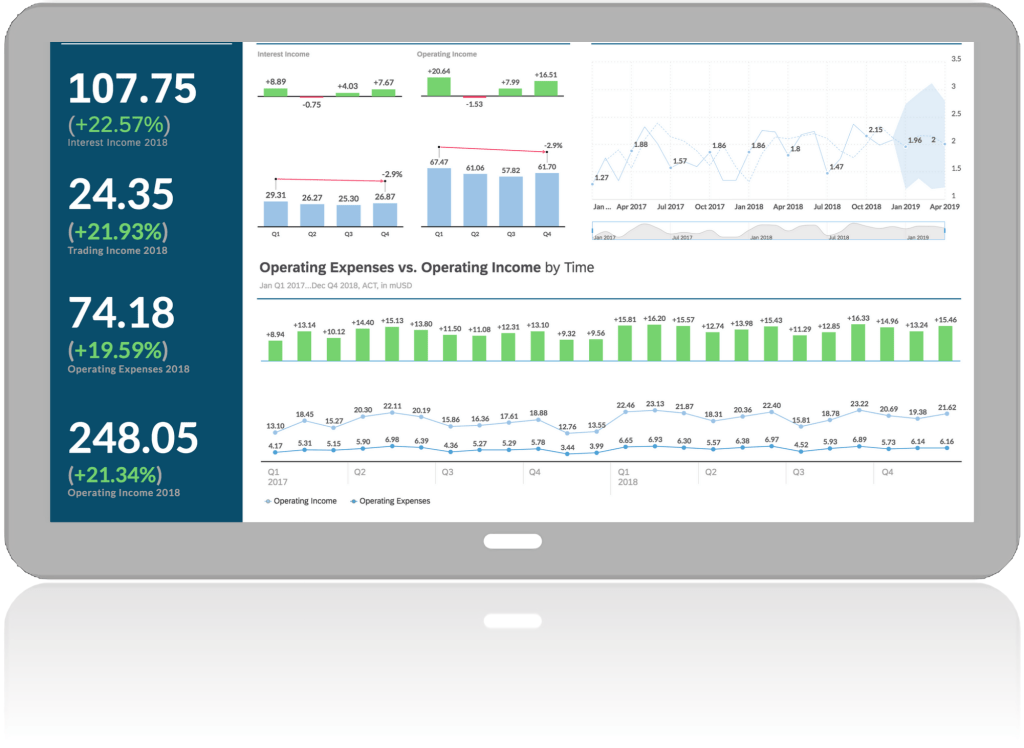 Ipad with business intelligence