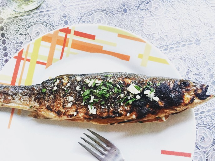 Fish fry in Kotor, Montenegro