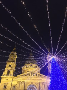 One of Budapest's best Christmas markets sits under the gaze of the grand St. Stephen's Basilica. Just look at this scene! Read more about the best Christmas markets in Budapest.