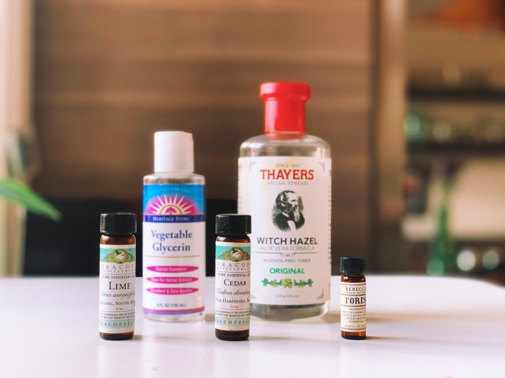 Aftershave DIY involves Witch Hazel and Vegetable Glycerin or Aloe Vera
