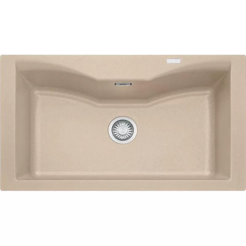 franke granite sink single bowl acquario acg 610 avena