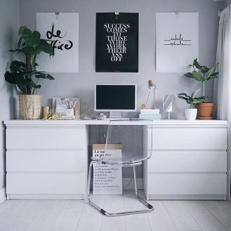 Desk made from Malm etc.