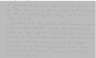 A page from Josep Pease´s diary