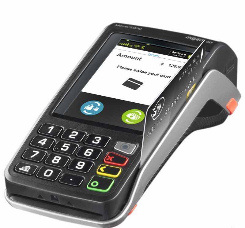 TPE carte magnétique Ingenico Move 5000 Bluetooth sans contact