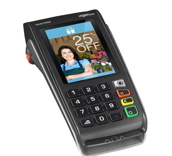 TPE sans abonnement Desk 5000 pour paiement par couponing