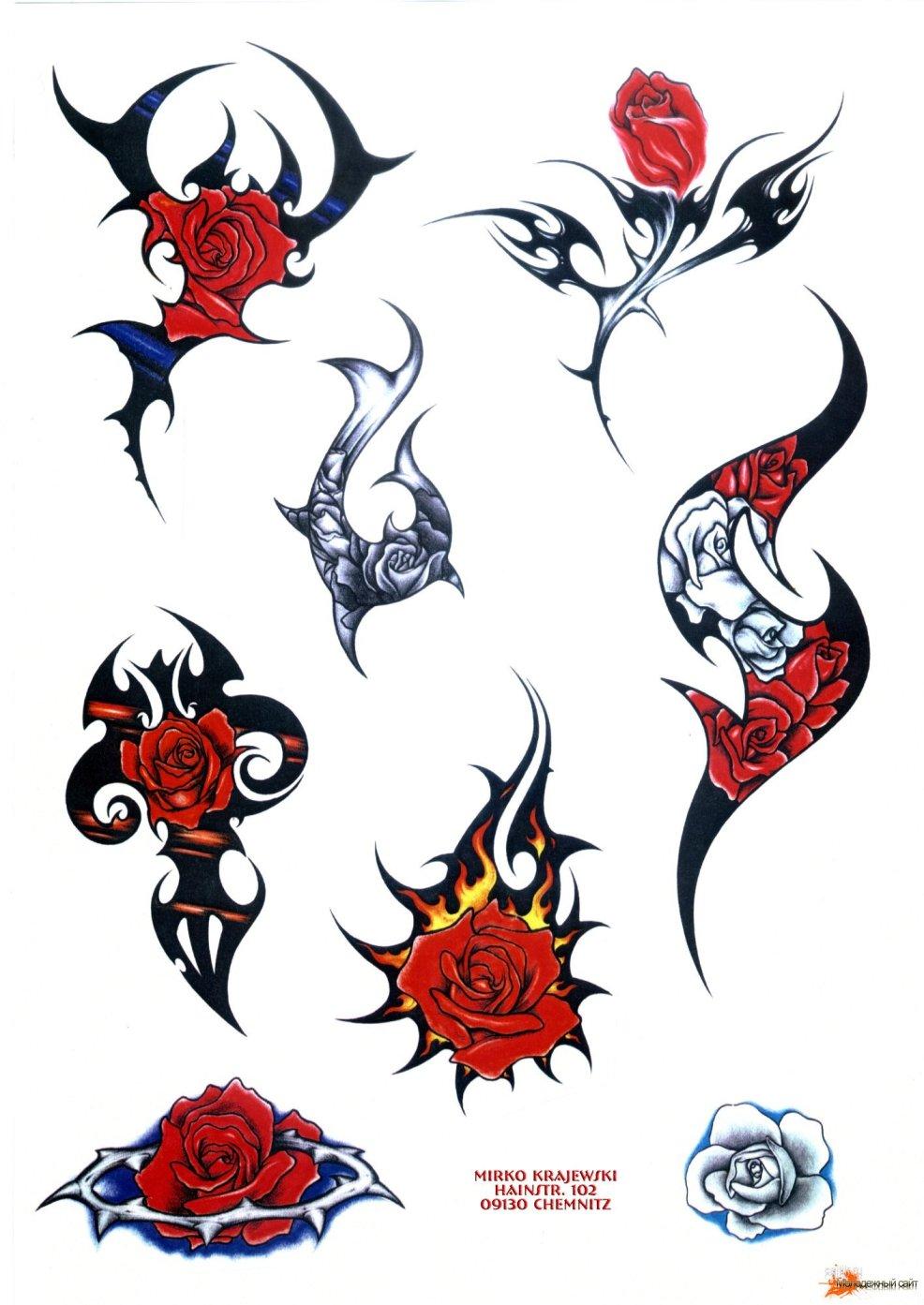 картинки татуировок на бумаге временные татуировки переводные