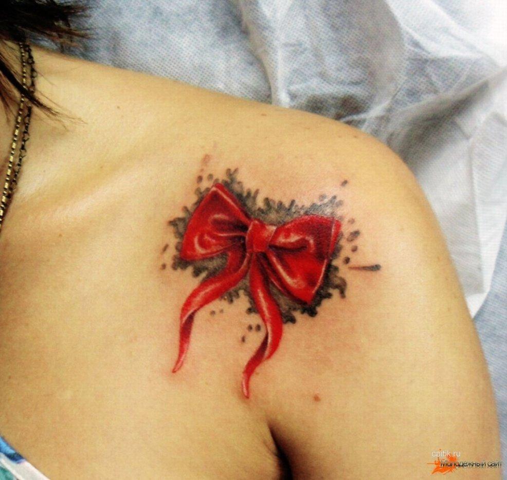 значение татуировки бантик фотографии тату