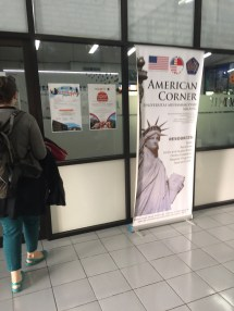 The American Corner of campus. Very cool. Completely funded by the US government.