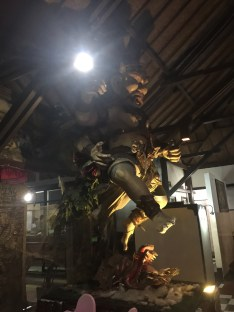 statue in the restaurant