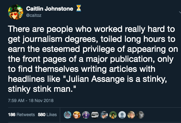"""Caitlin Johnstone: """"Debunking All The Assange Smears"""""""