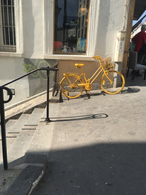 A yellow bike, because why not!