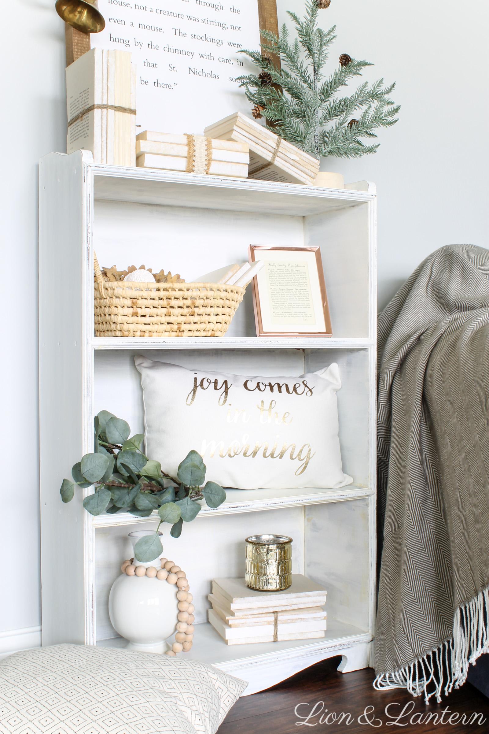 Rustic Christmas Bookshelf Caitlin Marie Design