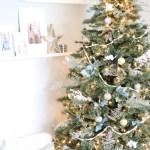 Modern Metallic Christmas Tree Christmas Home Tour Blog Hop Caitlin Marie Design
