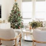 Modern Traditional Christmas Living Room Caitlin Marie Design