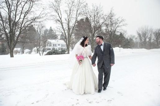 Winter wedding upstate NY