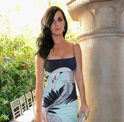 Katy Perry Stuns In A Sophisticated Printed Dress: http://hollywoodlife.com/2012/10/26/katy-perry-sexy-dress-wes-gordon-pics/