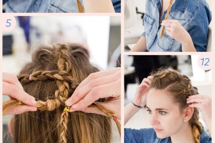 Trust Us, This Braid Only Looks Hard: http://www.stylebistro.com/Hair+How+To/articles/H364qo6NVYr/Trust+Braid+Only+Looks+Hard