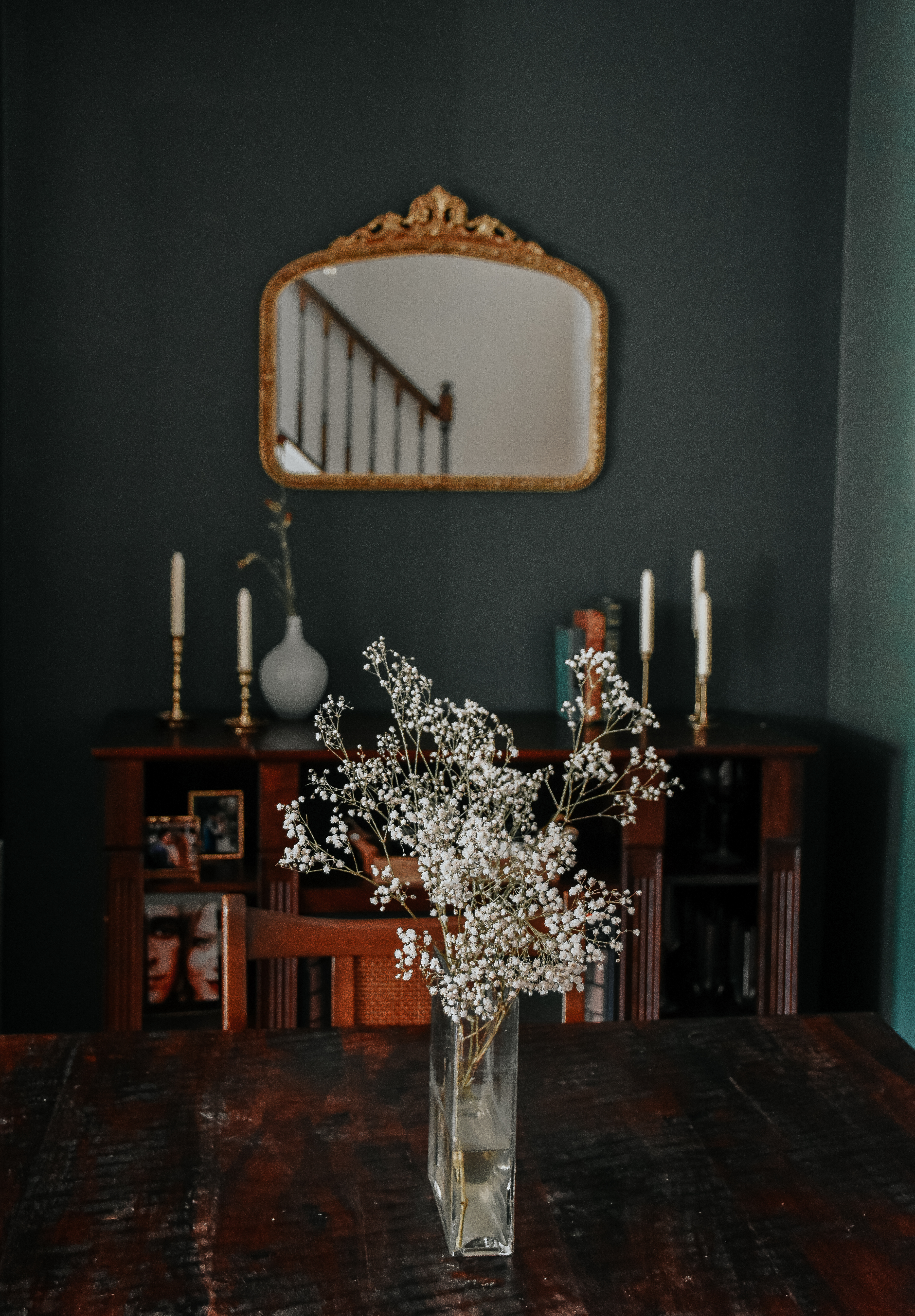 moody living room makeover, dark and moody living room, dark green livingroom, living room makeover