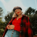 red plaid jacket, fall outfit idea, fall outfit inspiration, red outfit