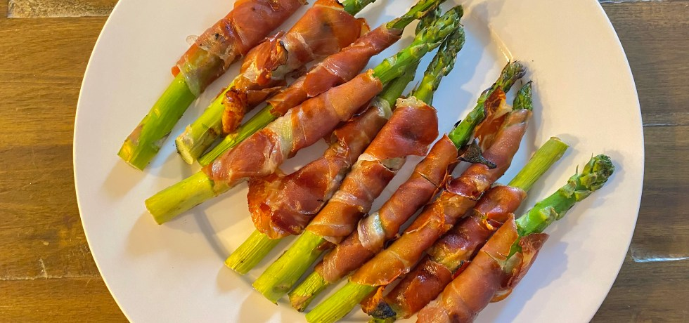 Grilled Asparagus Wrapped In Prosciutto