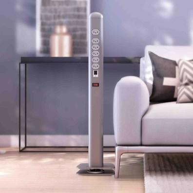 Torre de Tomadas e USB (Totem) para Recepção