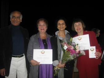 Shahid, Karen, Samira and Barbara. — with Shahid Akhtar, Karen Mock and Barbara Landau.