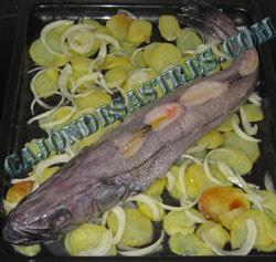 receta merluza entera al horno