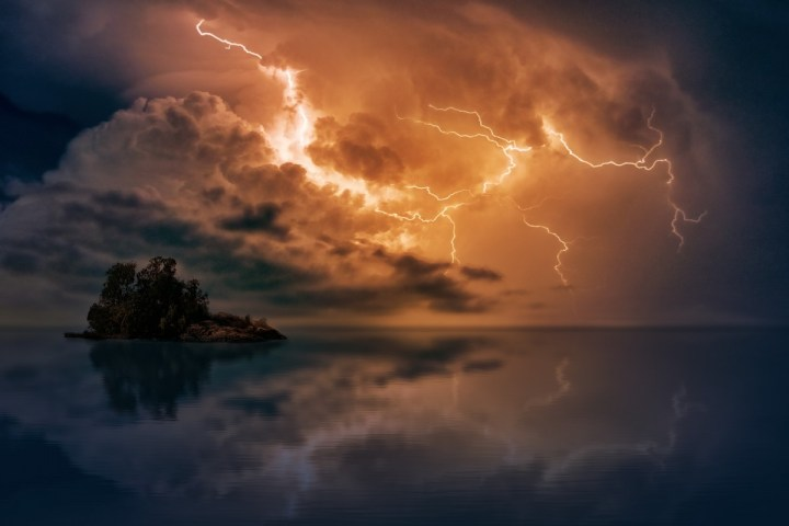 Storm above water