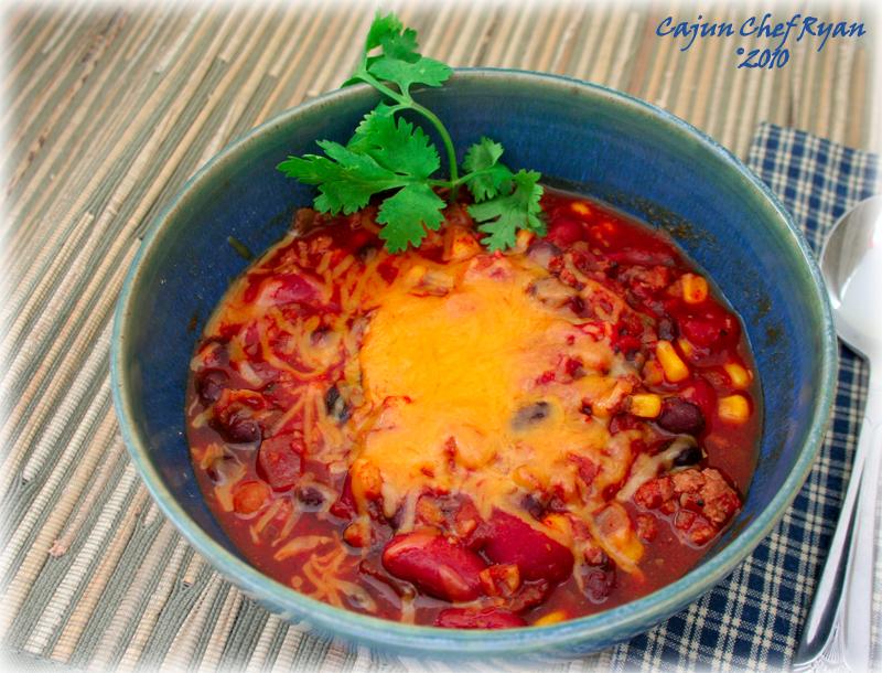 Three Bean and Corn Turkey Chili