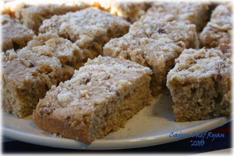 Buttermilk Coffee Cake close up servings