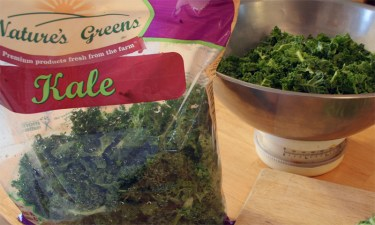 Prepping the Kale