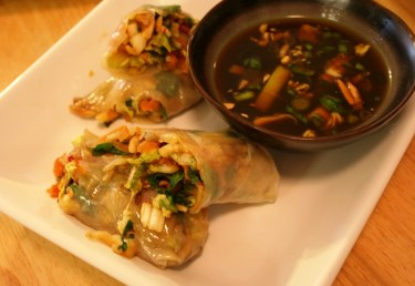 Pan Steamed Spring Rolls