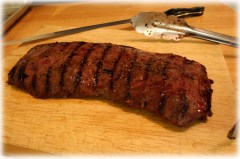 Resting the flat iron steak
