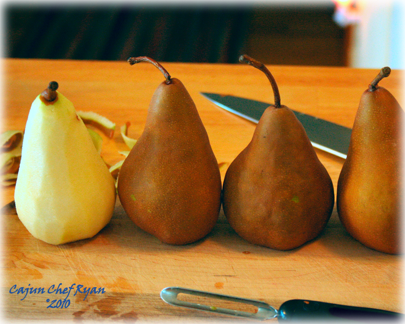 Peel the pears