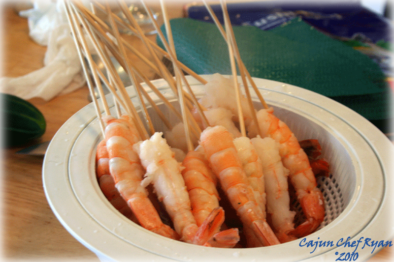 Cooling Sushi Shrimp