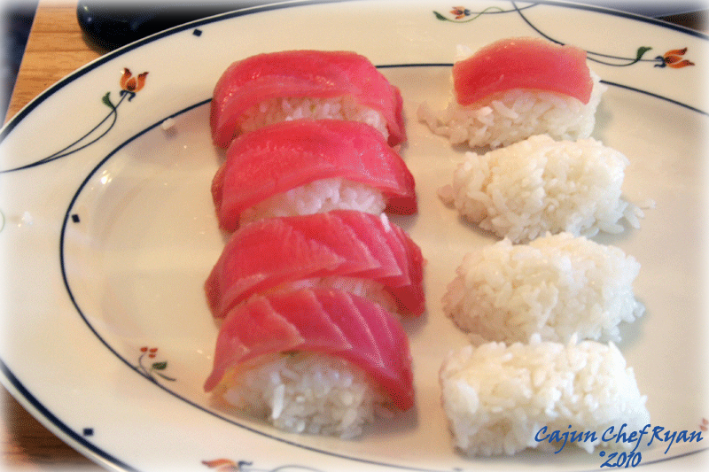 Making Tuna Nigiri Sushi