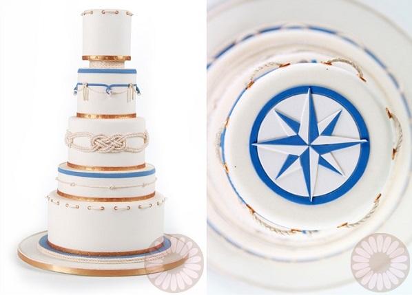 Nautical Chic Wedding Cakes Cake Geek Magazine