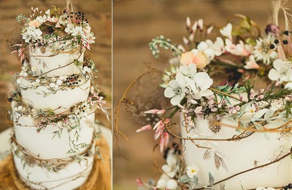 Wildflower Wedding Cakes